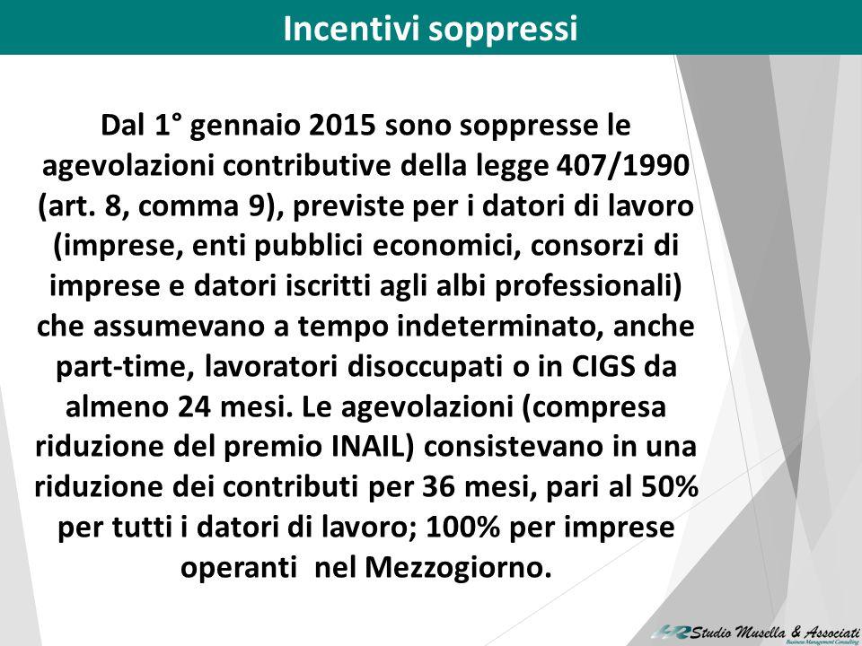 Incentivi soppressi