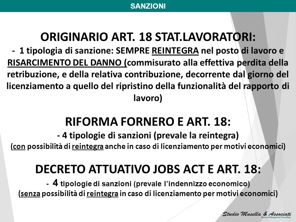 ORIGINARIO ART. 18 STAT.LAVORATORI: