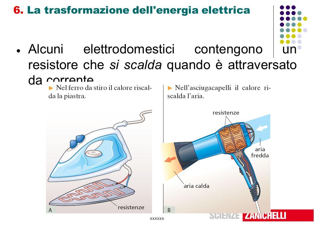 6. La trasformazione dell energia elettrica
