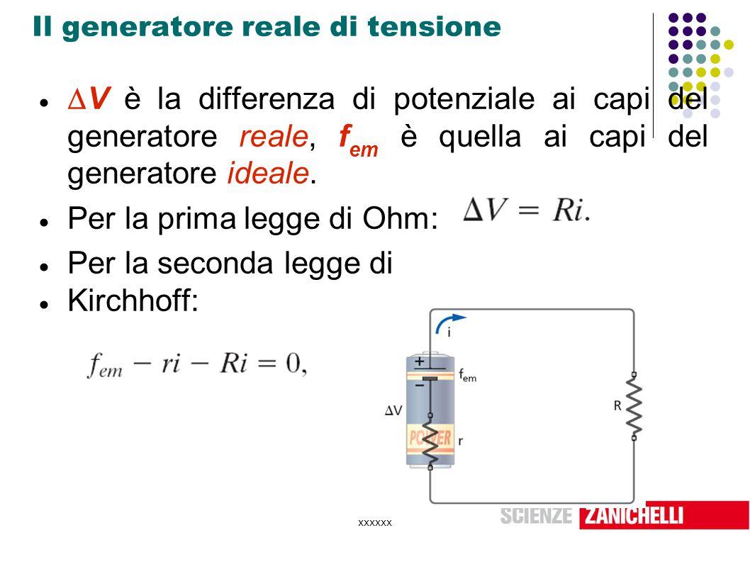 Il generatore reale di tensione