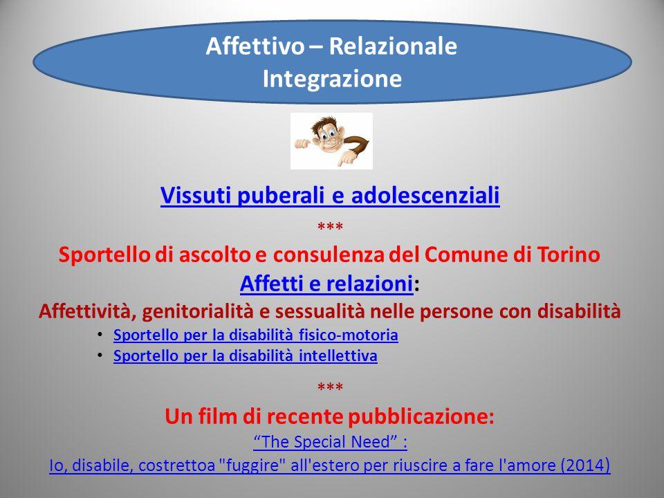 Affettivo – Relazionale Integrazione