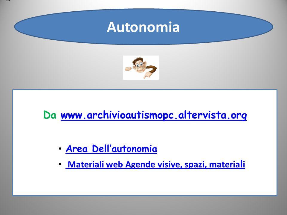Autonomia Da www.archivioautismopc.altervista.org Area Dell'autonomia