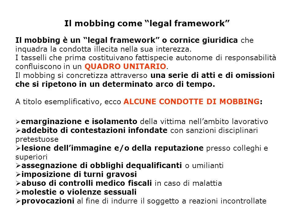 Il mobbing come legal framework