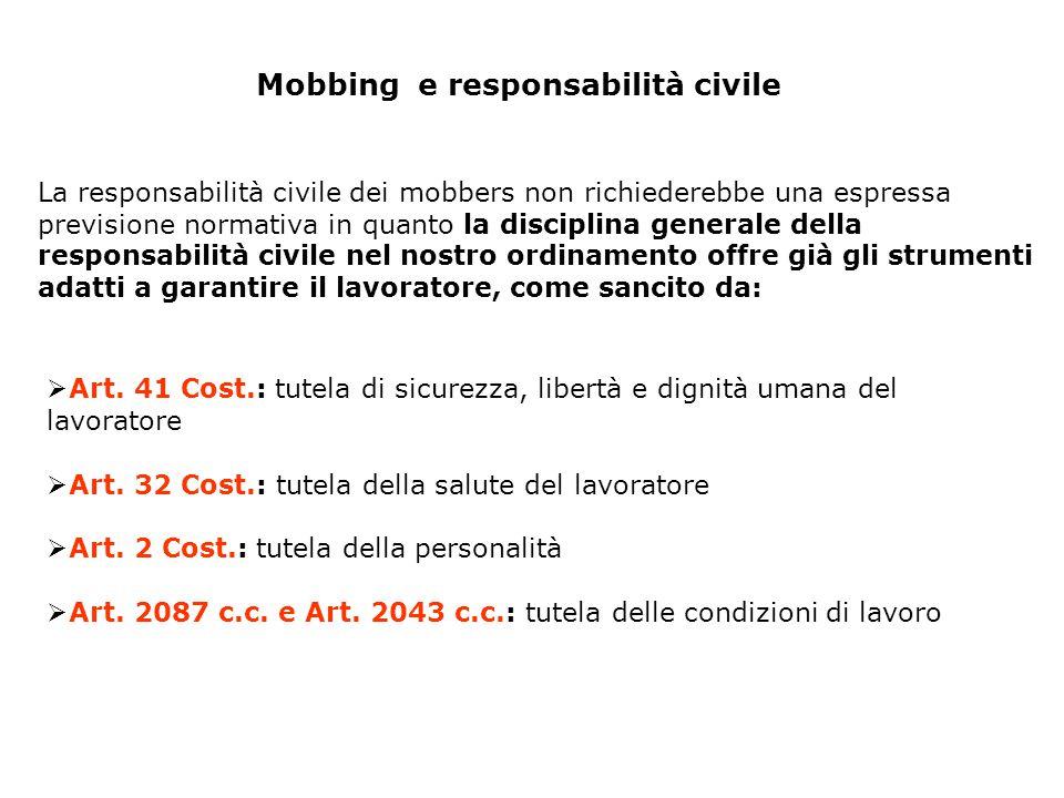 Mobbing e responsabilità civile