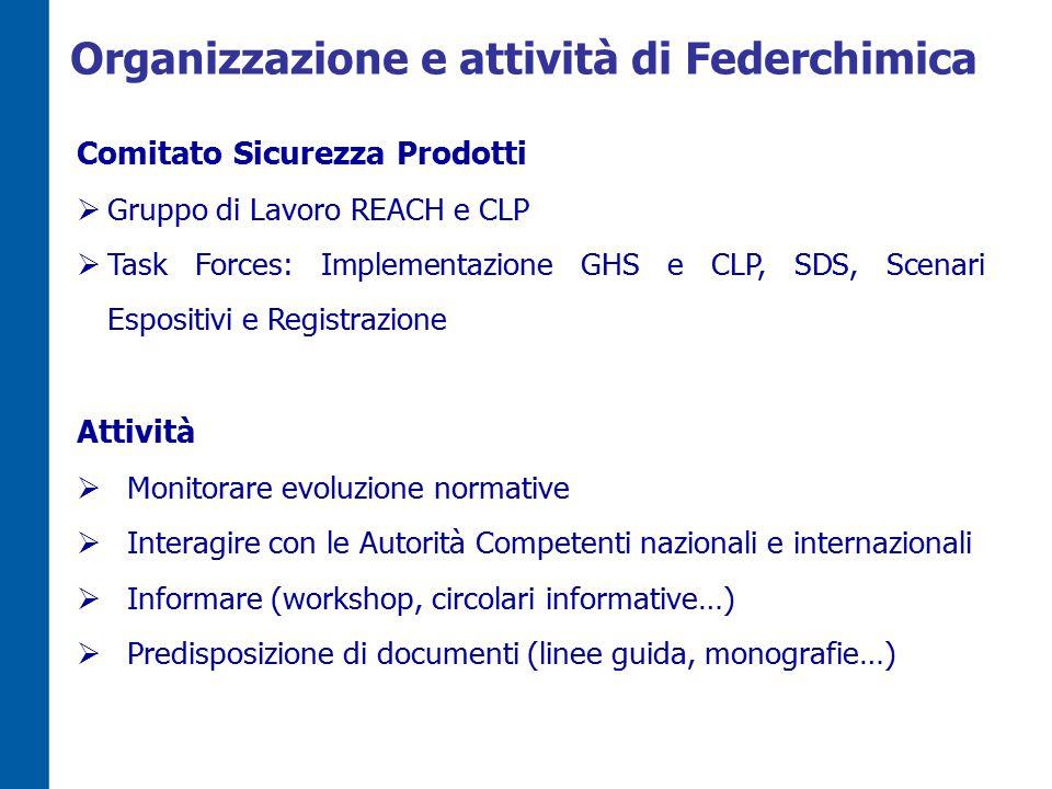Organizzazione e attività di Federchimica