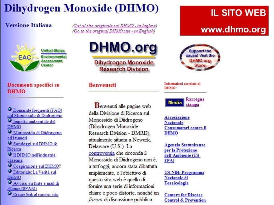 IL SITO WEB www.dhmo.org