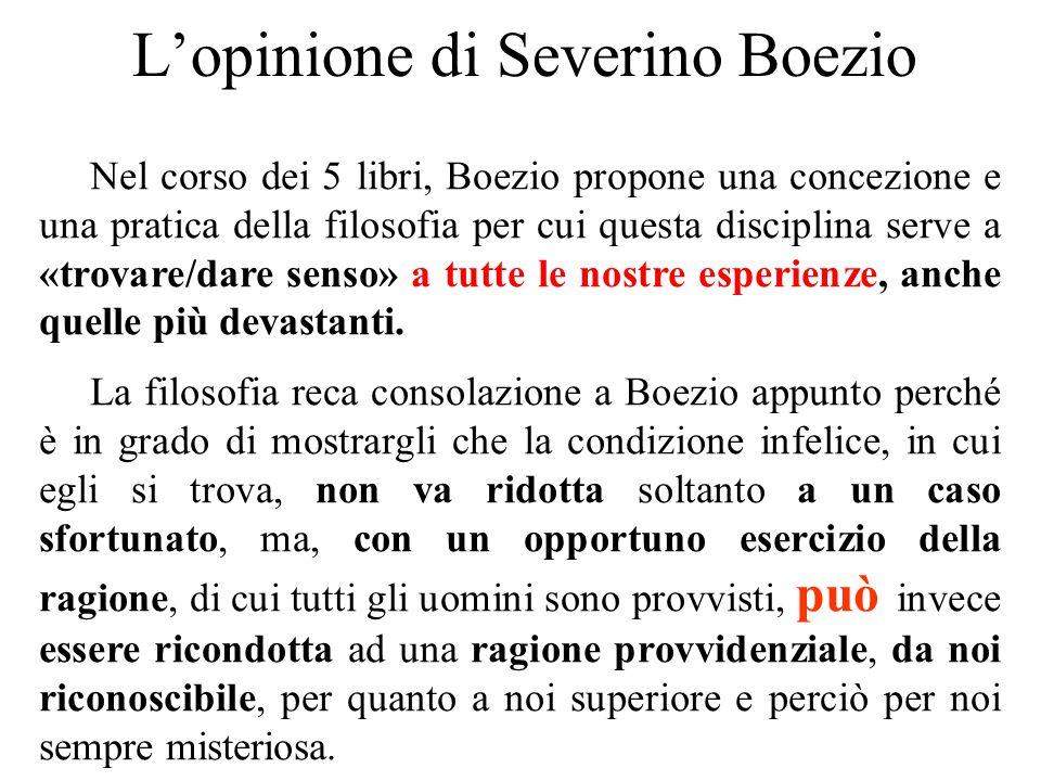 L'opinione di Severino Boezio