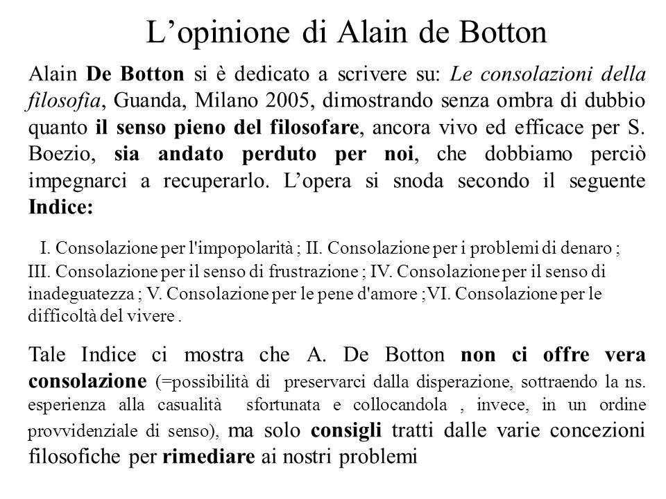 L'opinione di Alain de Botton