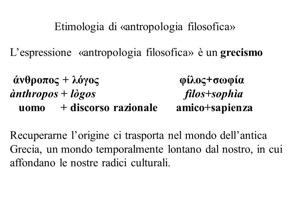 Etimologia di «antropologia filosofica»