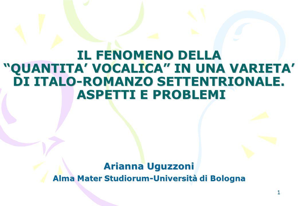 Arianna Uguzzoni Alma Mater Studiorum-Università di Bologna