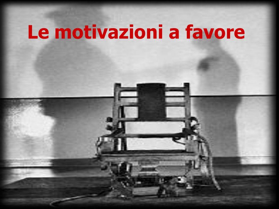 Le motivazioni a favore