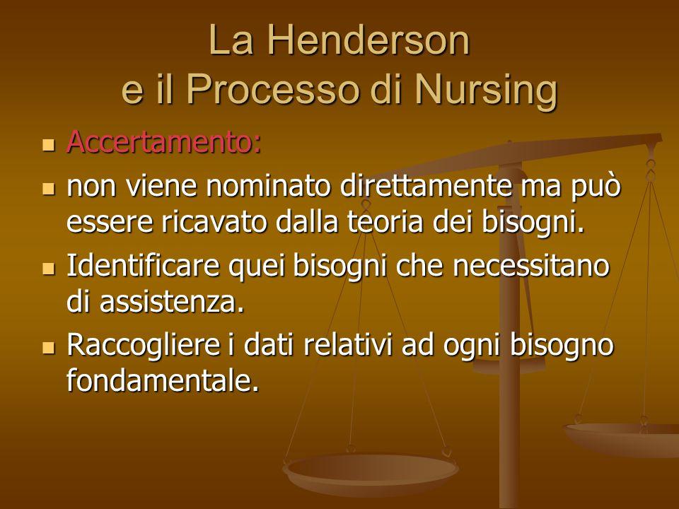 La Henderson e il Processo di Nursing