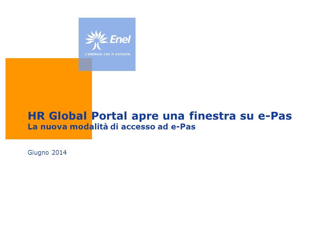 HR Global Portal apre una finestra su e-Pas La nuova modalità di accesso ad e-Pas