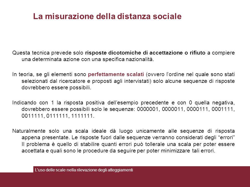 La misurazione della distanza sociale
