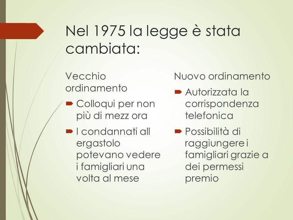 Nel 1975 la legge è stata cambiata: