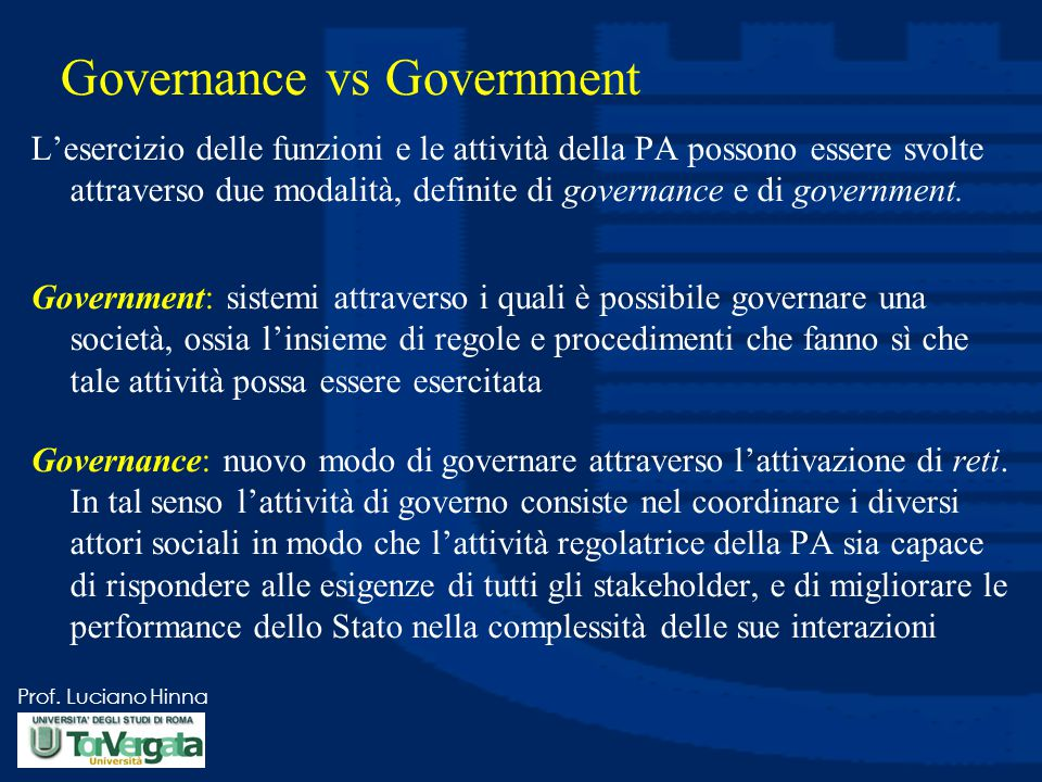 Governance vs Government
