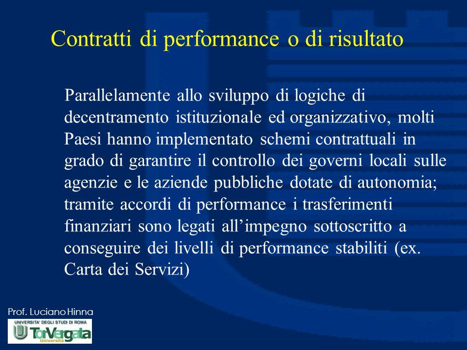 Contratti di performance o di risultato