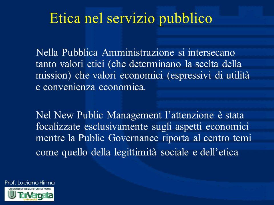 Etica nel servizio pubblico