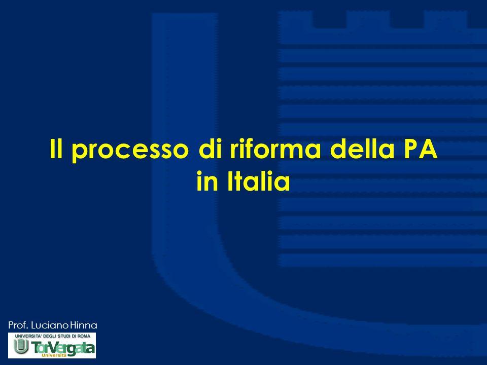 Il processo di riforma della PA in Italia