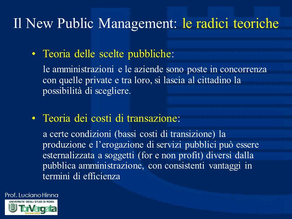 Il New Public Management: le radici teoriche