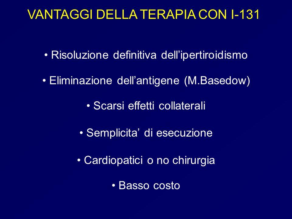 VANTAGGI DELLA TERAPIA CON I-131