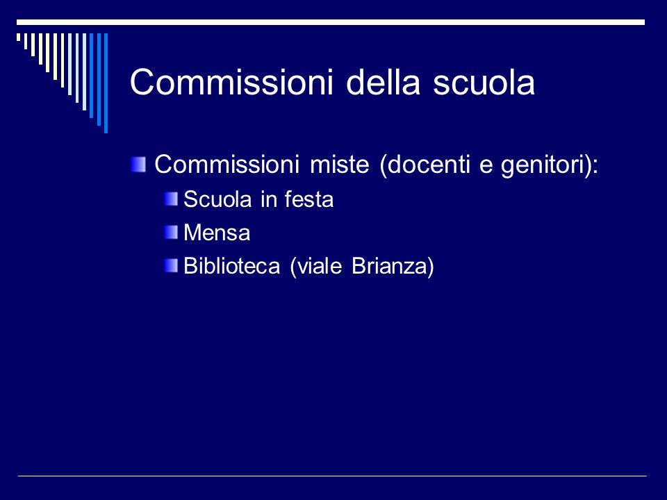 Commissioni della scuola