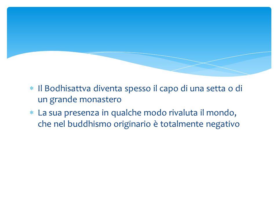 Il Bodhisattva diventa spesso il capo di una setta o di un grande monastero