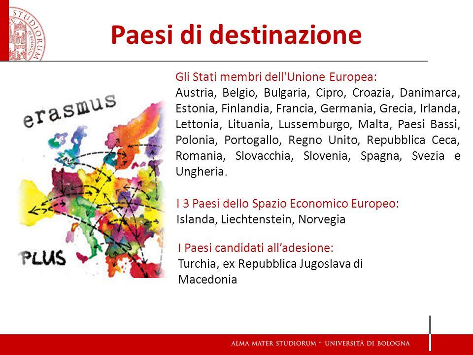 Paesi di destinazione Gli Stati membri dell Unione Europea: