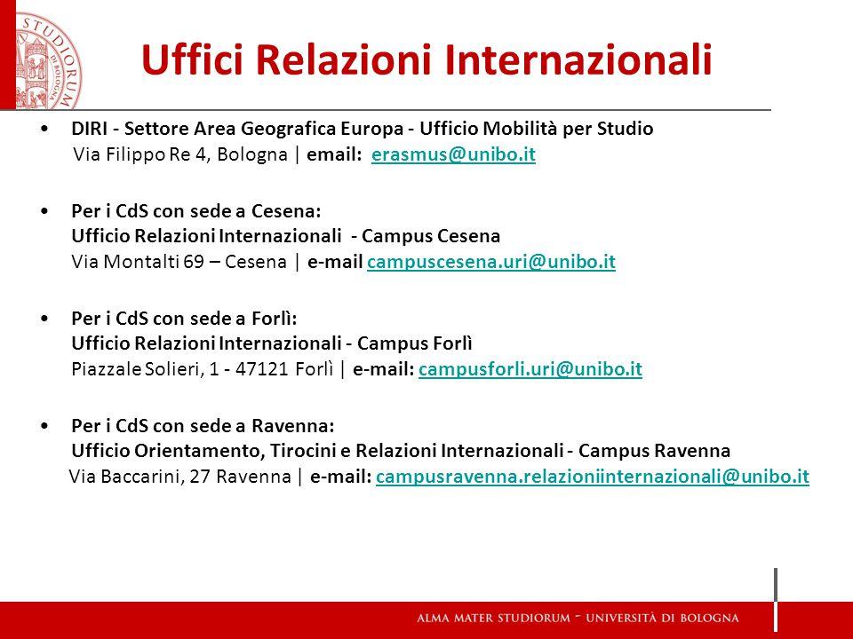 Uffici Relazioni Internazionali