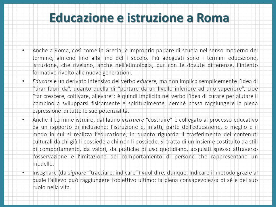 Educazione e istruzione a Roma
