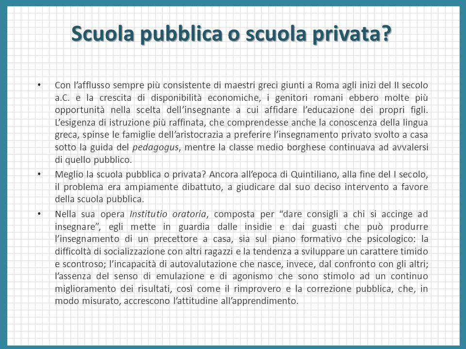 Scuola pubblica o scuola privata