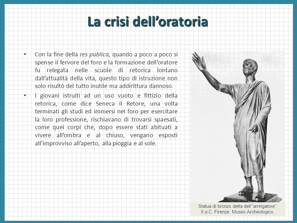 La crisi dell'oratoria