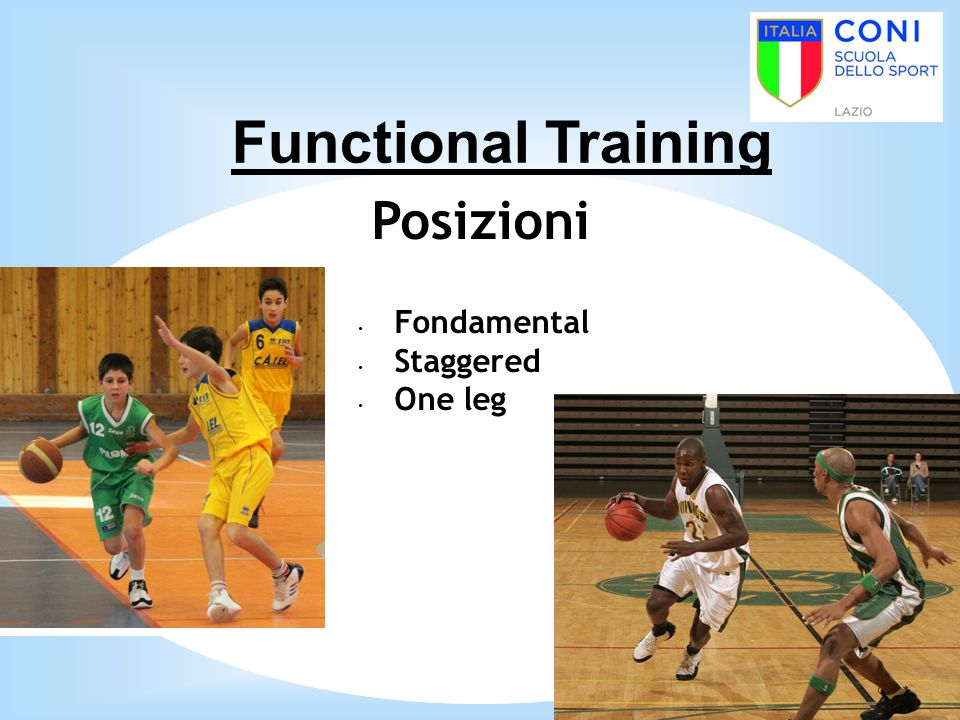 Functional Training Posizioni Fondamental Staggered One leg