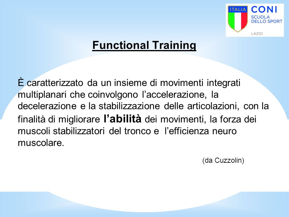 (da Cuzzolin) Functional Training