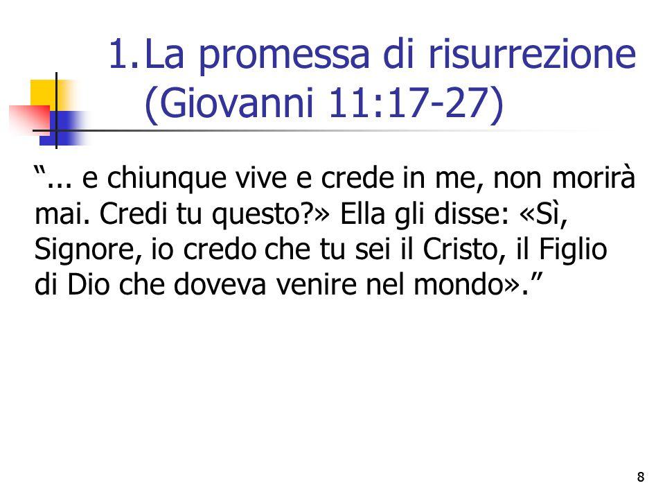 La promessa di risurrezione (Giovanni 11:17-27)