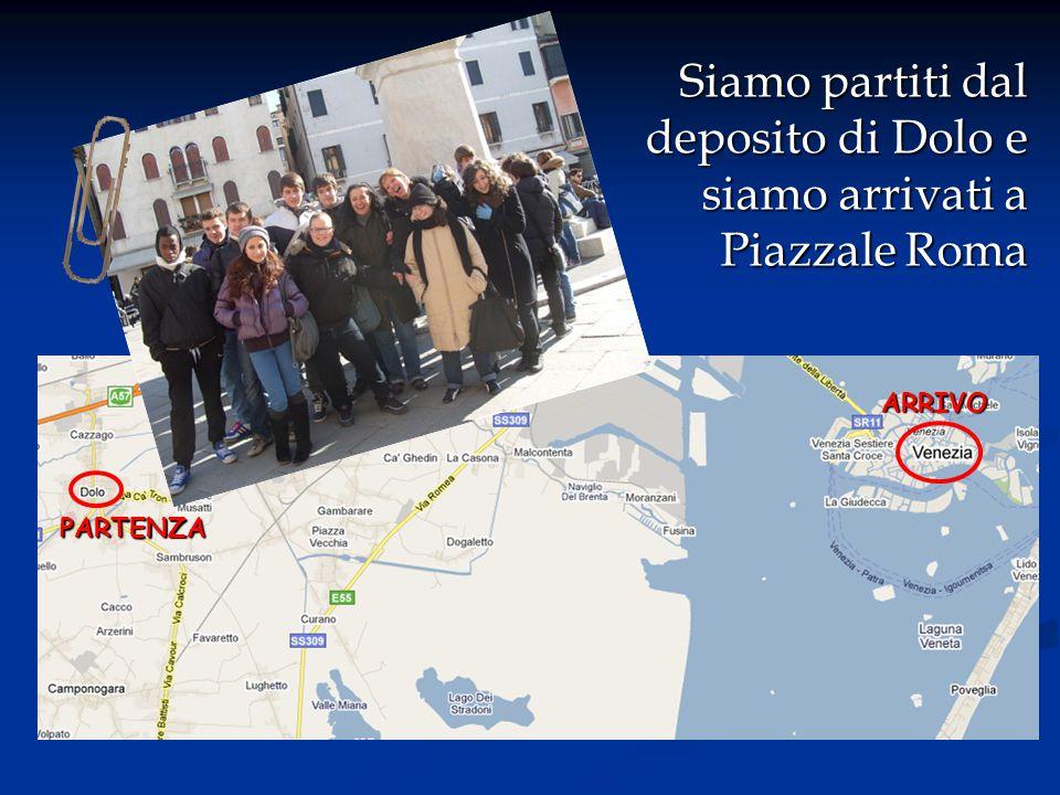 Siamo partiti dal deposito di Dolo e siamo arrivati a Piazzale Roma