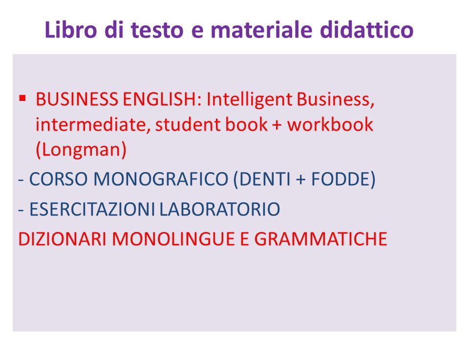 Libro di testo e materiale didattico