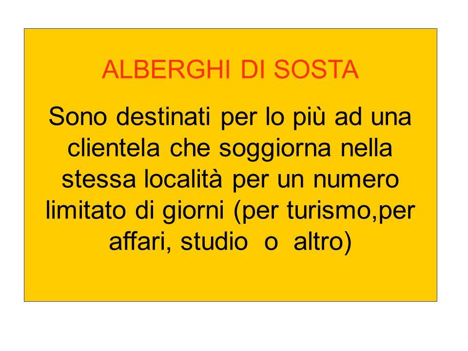 ALBERGHI DI SOSTA