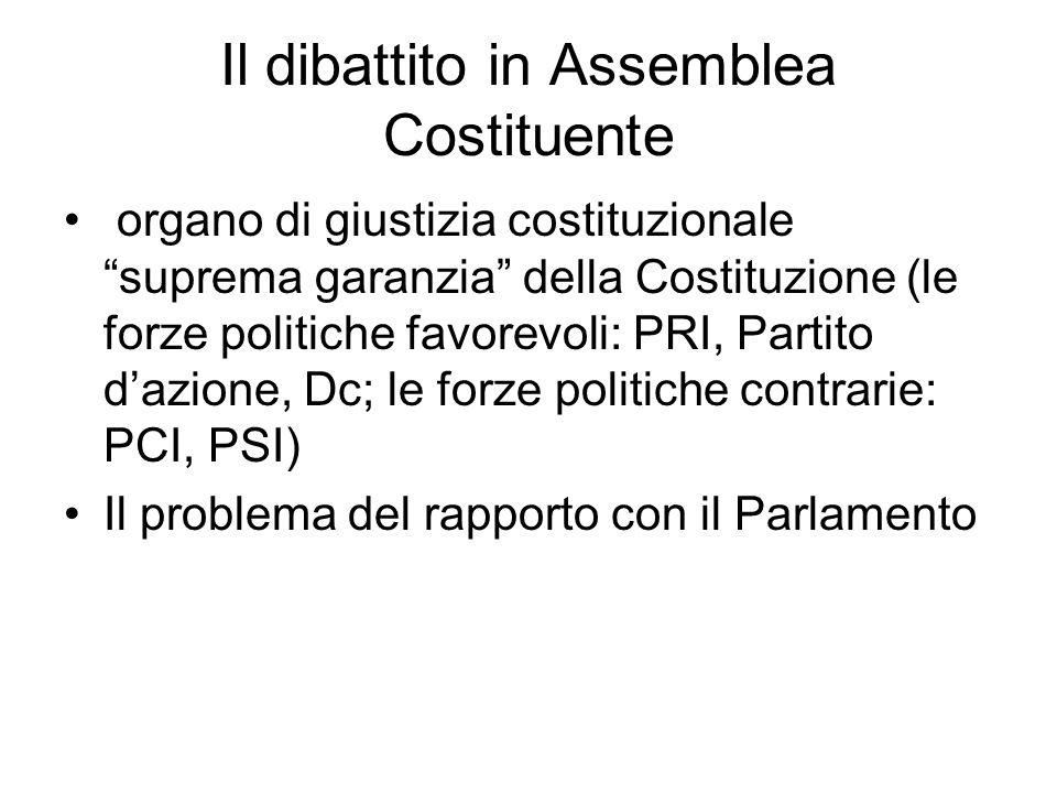 Il dibattito in Assemblea Costituente