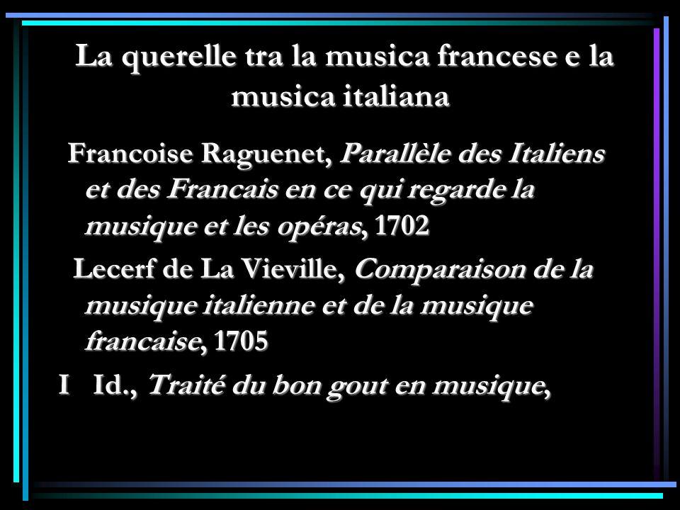 La querelle tra la musica francese e la musica italiana