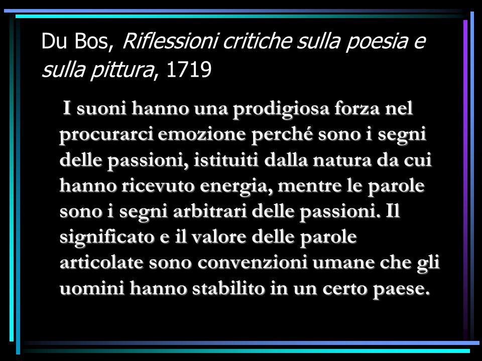 Du Bos, Riflessioni critiche sulla poesia e sulla pittura, 1719
