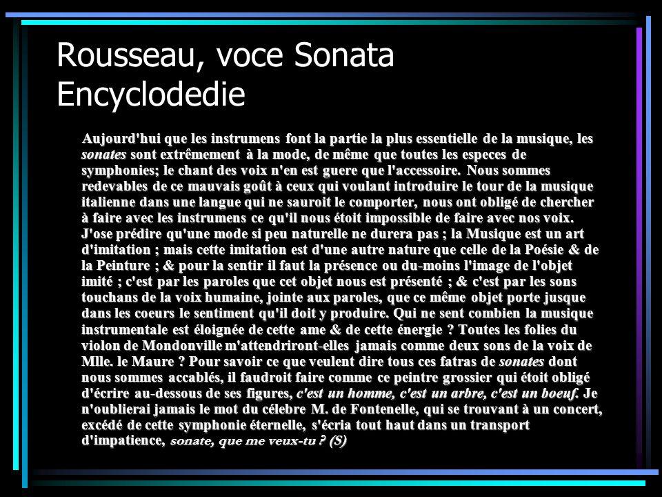 Rousseau, voce Sonata Encyclodedie