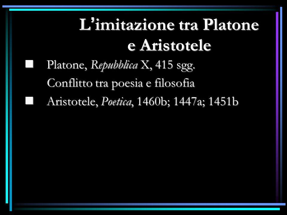 L'imitazione tra Platone