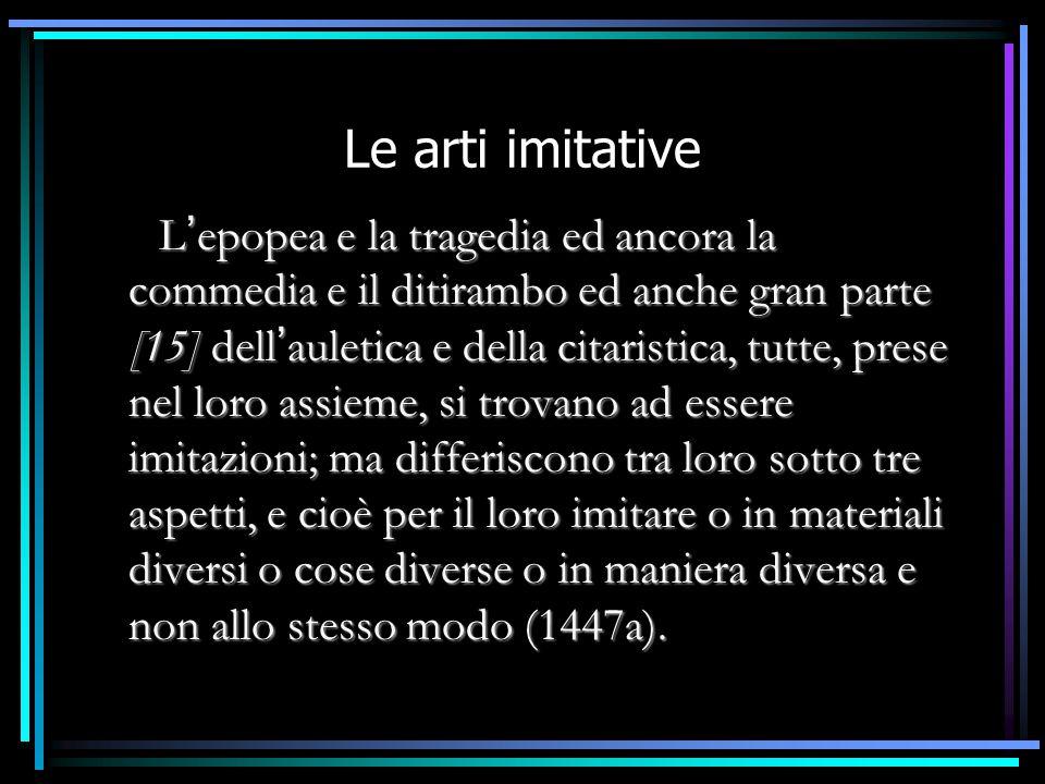 Le arti imitative