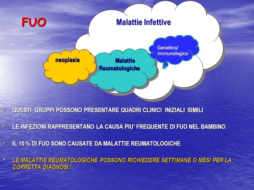 FUO Malattie Infettive neoplasie Malattie Reumatologiche