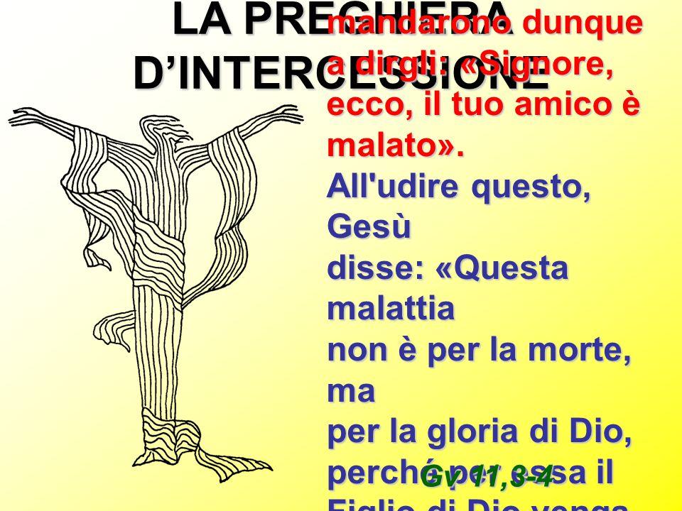 LA PREGHIERA D'INTERCESSIONE