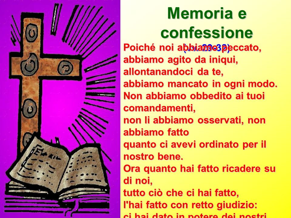 Memoria e confessione Poiché noi abbiamo peccato,