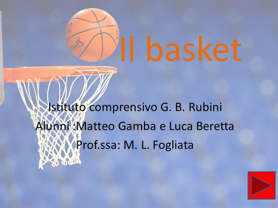 Il basket Istituto comprensivo G. B. Rubini