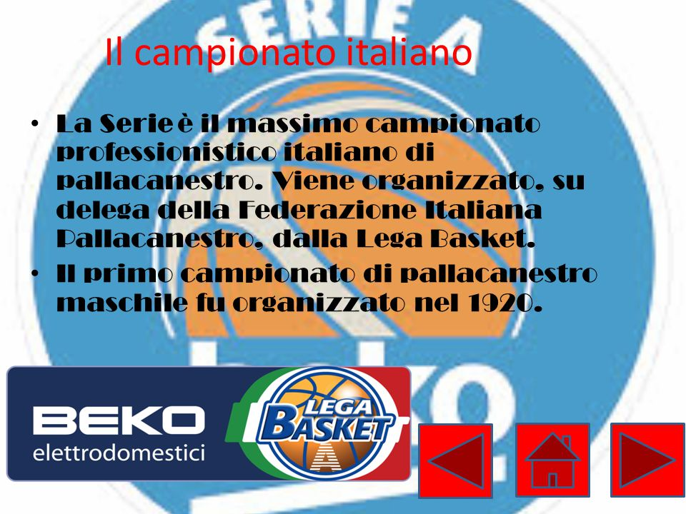 Il campionato italiano