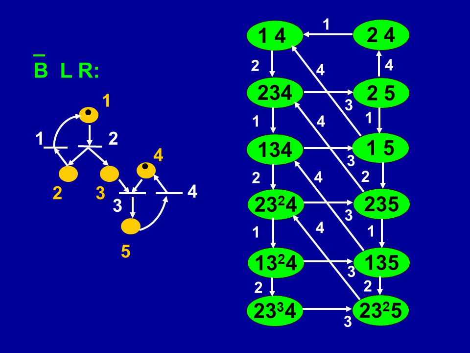 1 1 4. 2 4. _. B L R: 4. 2. 4. 234. 2 5. 1. 3.  4. 1. 1. 1. 2. 134. 1 5. 4. 3.